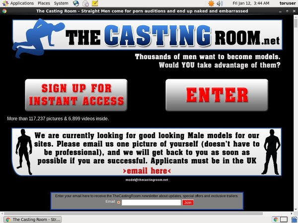 Thecastingroom.net For Tablet