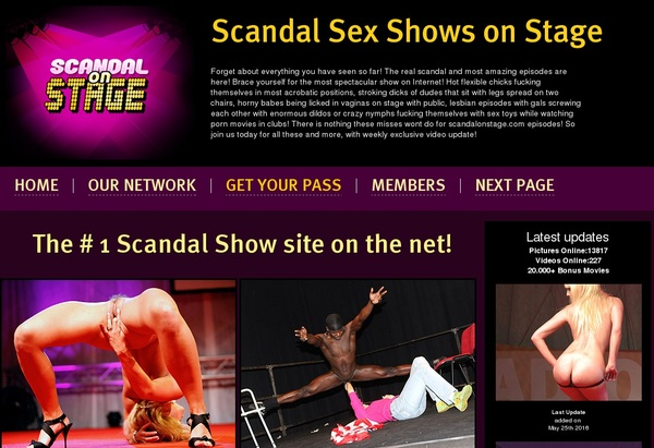 Scandalonstage.com Best Videos